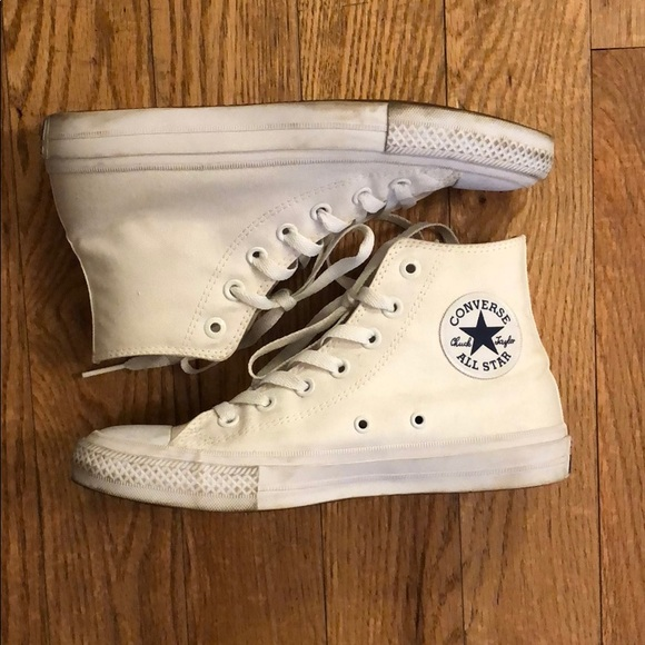 Converse Shoes - All white Chuck Taylors